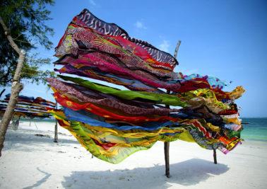 Colorful scarves in Kenya