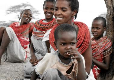 Kenya women and children