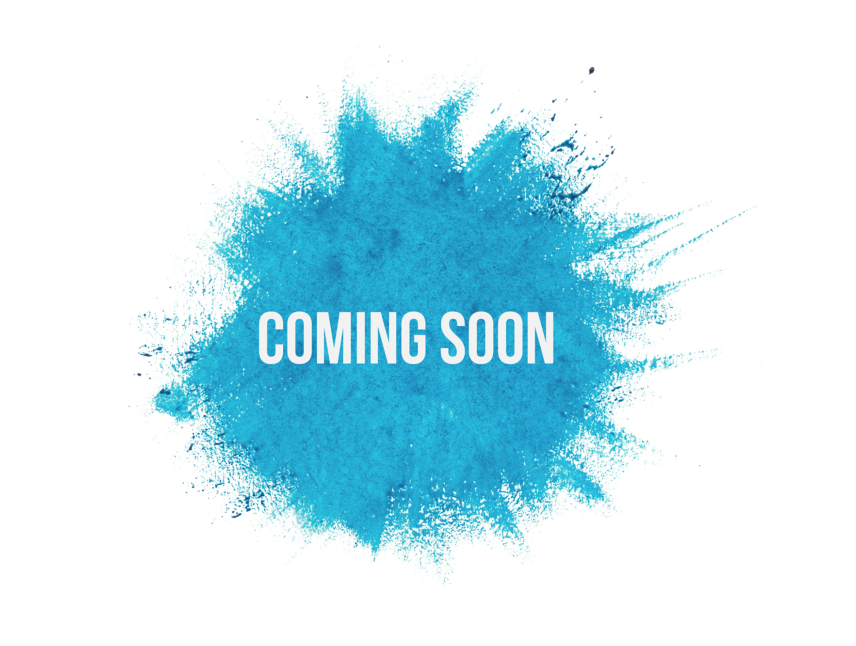 Coming Soon On Blue Paint Background Isolated On White Thinkwell