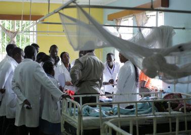 Doctors in African hospital