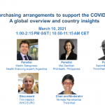 Event on March 10, 2021: Adjusting purchasing arrangements to support the COVID-19 response